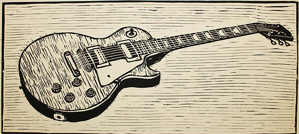 Les Paul Drawing - Les Paul by William Cauthern