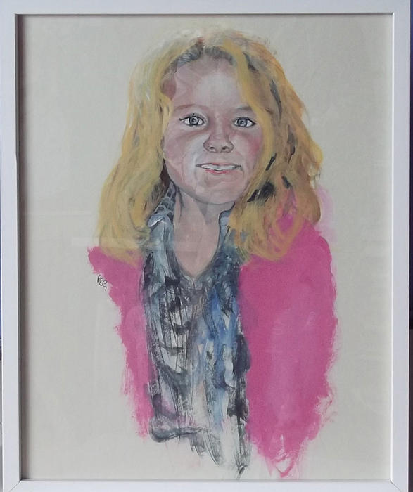 Portrait Painting - Libby by Peter Edward Green