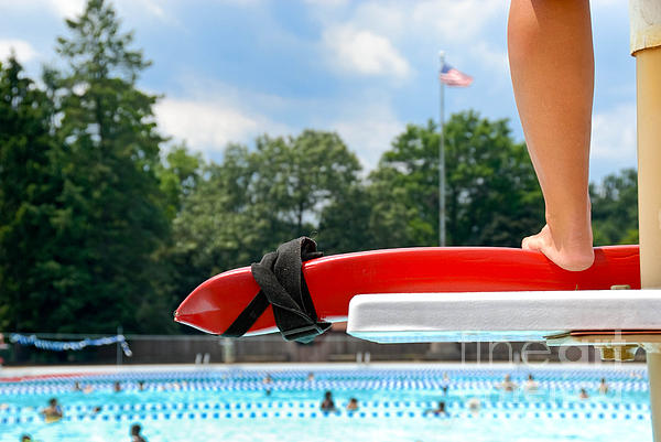 Allegheny County Photograph - Lifeguard Watches Swimmers by Amy Cicconi