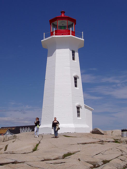 Lighthouse Photograph - Lighthouse At Peggys Cove by Brenda Anne Foskett