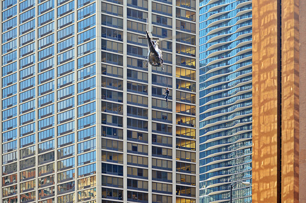 Il Photograph - Lights - Camera - Action - Movie Backdrop Chicago by Christine Till