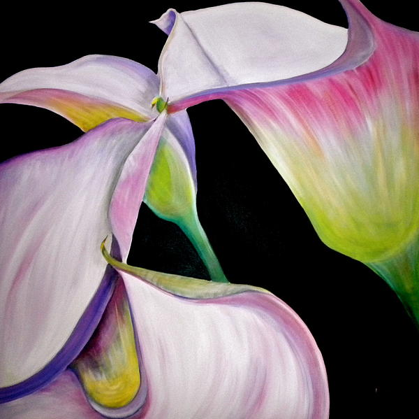 Lilies Painting - Lilies by Debi Starr