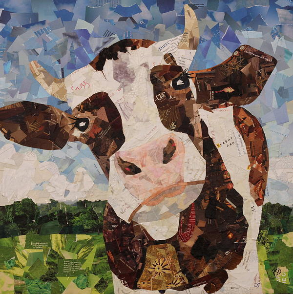 Cow Drawing - Lily Flagg by Paula Dickerhoff
