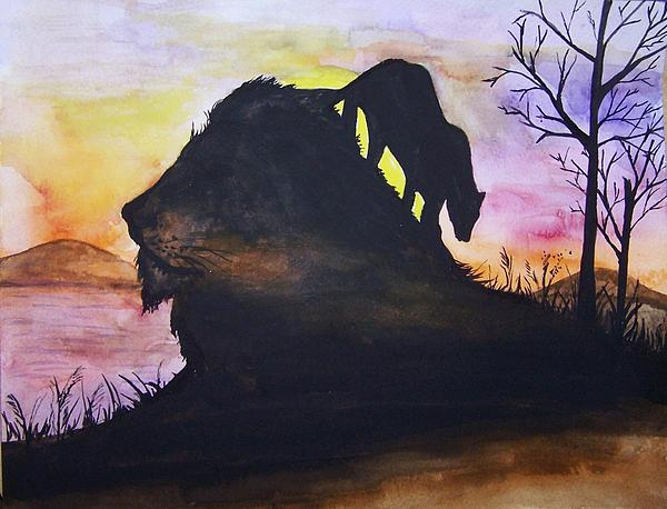 Lion Painting - Lion by Laneea Tolley