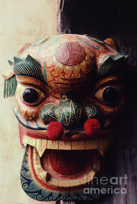 Chinese New Year Photograph - Lion Mask For Chinese New Year by Anna Lisa Yoder