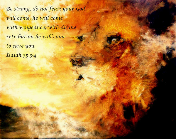 Lion Of Judah Painting - Lion Of Judah Courage  by Amanda Dinan