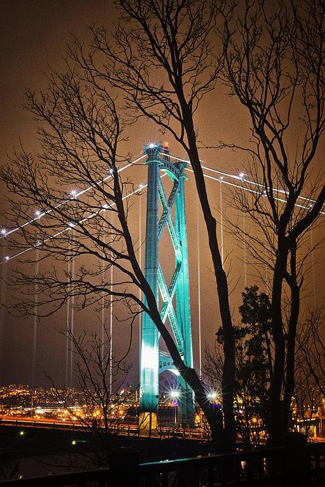 Lions Gate Bridge Photograph - Lions Gate Bridge by Jorge Ligason