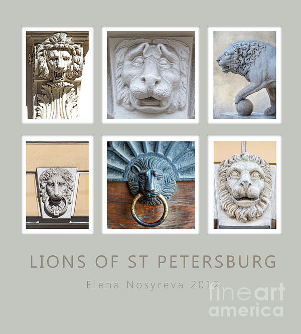Lion Photograph - Lions Of St Petersburg by Elena Nosyreva
