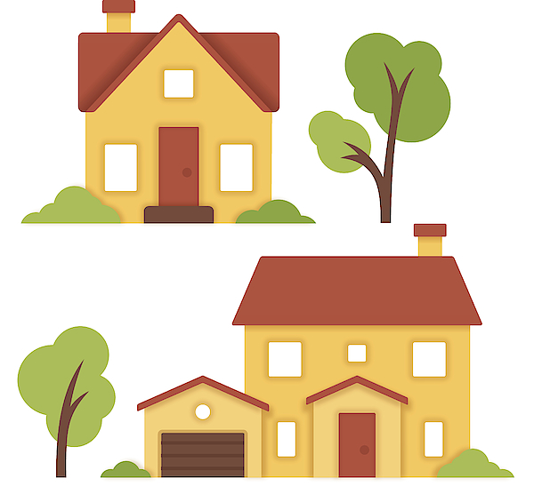 Little Houses Drawing by Filo