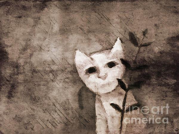 Kitten Mixed Media - Little Kitten by Lutz Baar