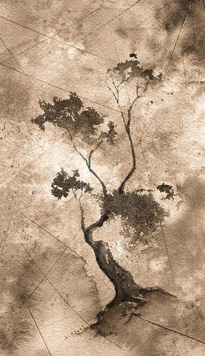 Zen Painting - Little Zen Tree 873 Altered by Sean Seal