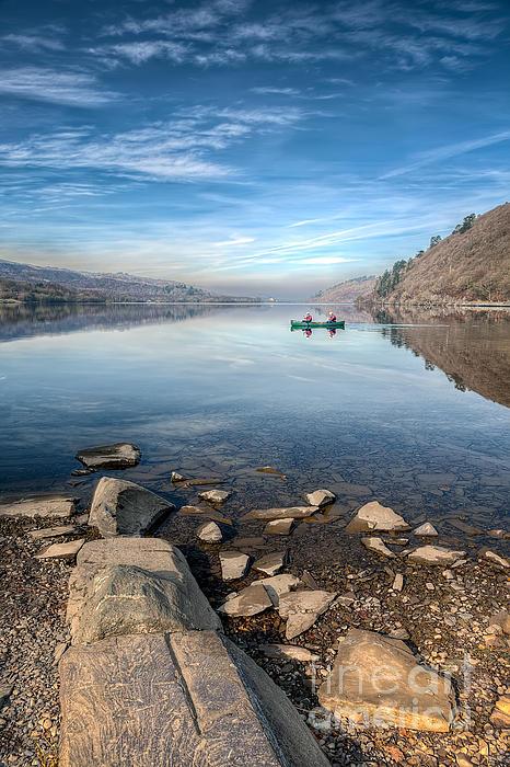 Autumn Photograph - Llanberis Lake by Adrian Evans