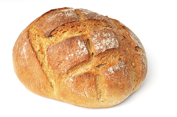 Bread Photograph - Loaf Of Bread On White by Matthias Hauser
