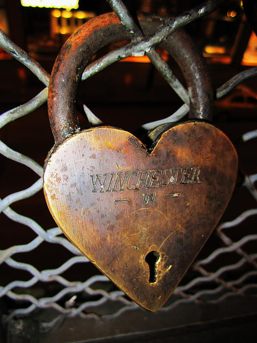 Old Lock Photograph - Lock Of Love by Kym Backland