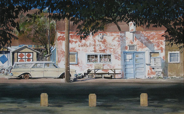 Nevada Painting - Long Branch Saloon Luning Nevada by Richard Eaves Woods
