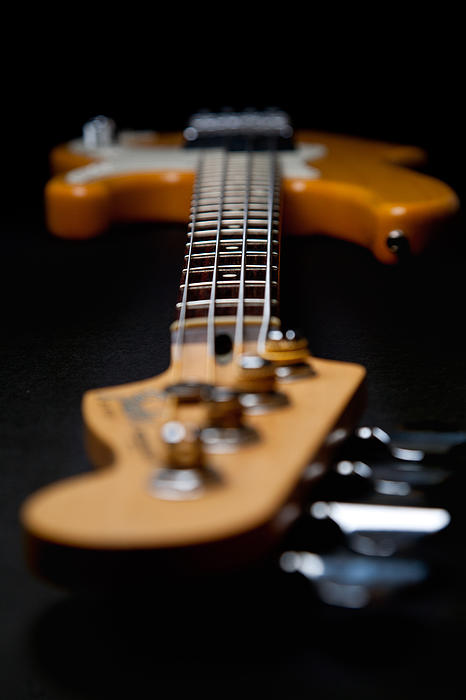 Bass Guitar Photograph - Long Neck by Peter Tellone