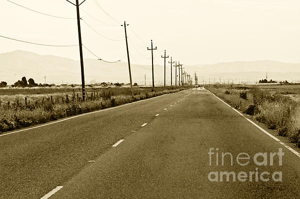 Road Picture Photograph - Long Road Home by Artist and Photographer Laura Wrede