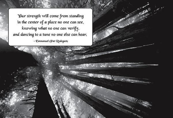 Quotation Photograph - Looking Within by Mike Flynn