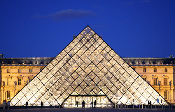 Louvre Museum Photograph - Louvre Pyramid by Joanna Madloch