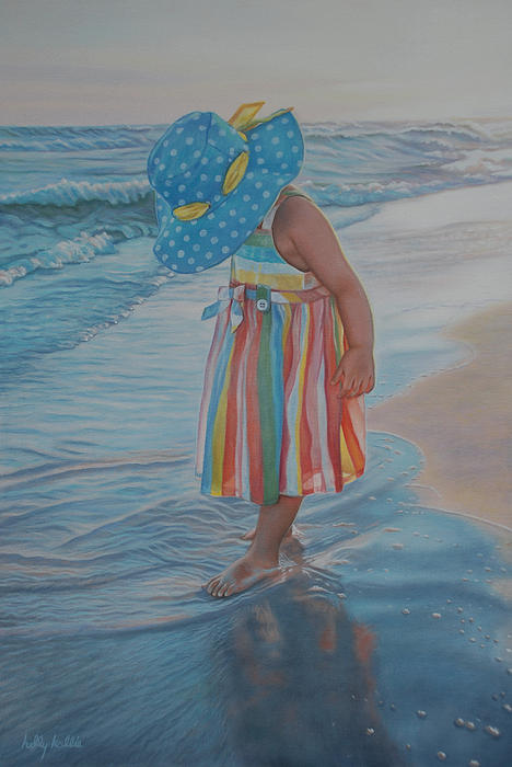 Realistic Painting - Love Comes In Many Colors by Holly Kallie