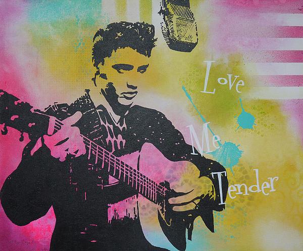 Music Painting - Love Me Tender by Bitten Kari