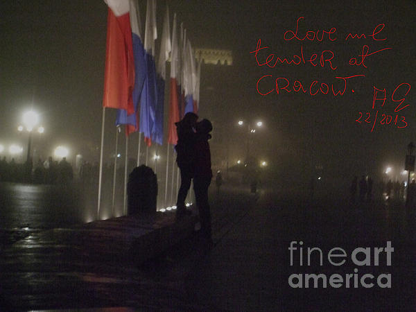 Streched Canvases Photograph - Love Me Tender - Power Of Love At Cracow . by  Andrzej Goszcz