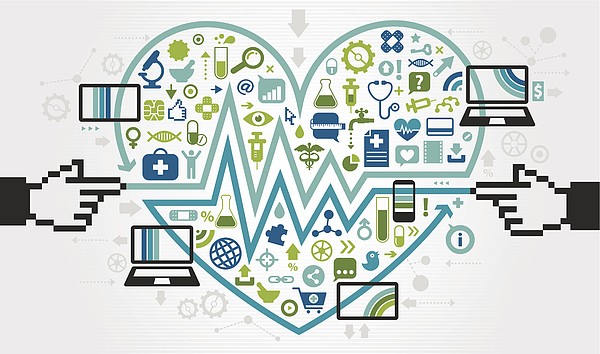 Love Mobile Ehealth Communication Drawing by DrAfter123