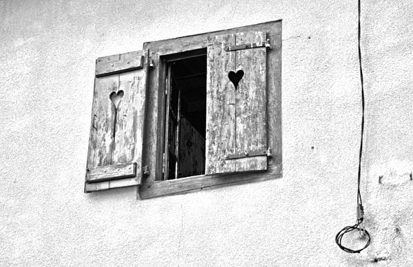 Black And White Photograph - Love Shutters by Georgia Fowler