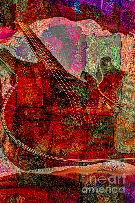Acoustic Photograph - Lovin The Sound Digital Guitar Art By Steven Langston by Steven Lebron Langston