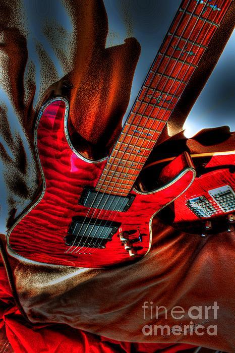 Acoustic Photograph - Loving Red By Steven Langston by Steven Lebron Langston