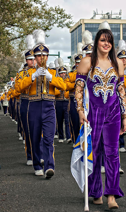 Lsu Photograph - Lsu Marching Band 5 by Steve Harrington