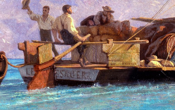 Luggage Painting - Luggage Boat by F.L.D. Bocion