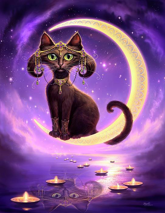 Cat Painting - Luna by Jeff Haynie