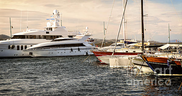 Yacht Photograph - Luxury Boats At St.tropez by Elena Elisseeva