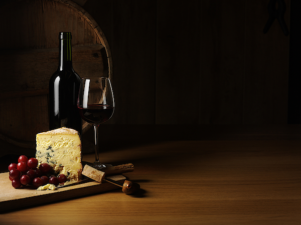 Luxury Cheese And Wine Photograph by Wragg