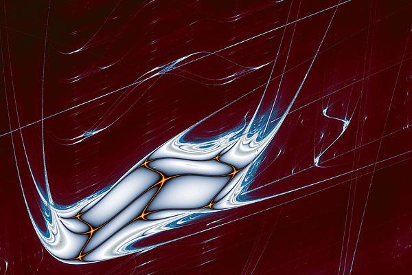 Abstract Digital Art - Lyapunov 42 by Mark Eggleston