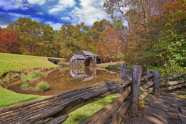 Mabry Photograph - Mabry Mill Virginia by Marcia Colelli