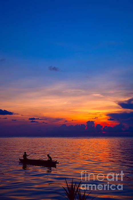 Malaysia Photograph - Mabul Island Sunset Borneo Malaysia by Fototrav Print