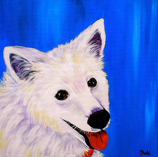 Dog Paintings Painting - Mac by Debi Starr