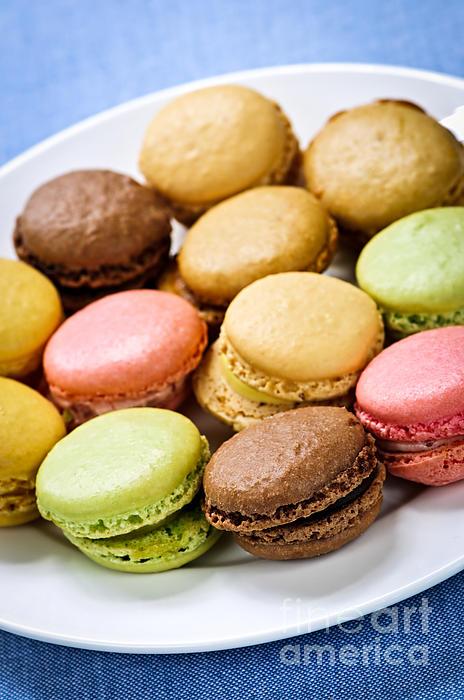 Macaroons Photograph - Macaroon Cookies by Elena Elisseeva