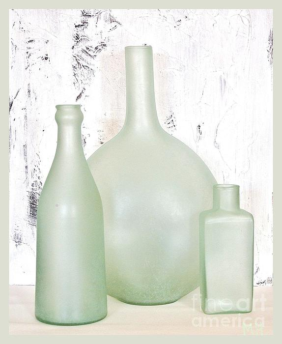 Photo Photograph - Made In India Sea Glass Bottles by Marsha Heiken