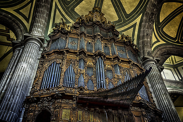 Church Photograph - Magnificent Pipe Organ by Lynn Palmer
