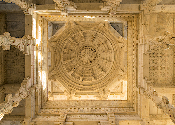 Main Dome Ceiling Of Ranakpur Jain Temple, Rajasthan, India Photograph by Sutthinon Sanyakup