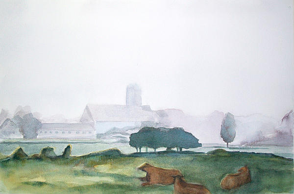 Maine Landscape Painting - Maine Cathedral by Grace Keown