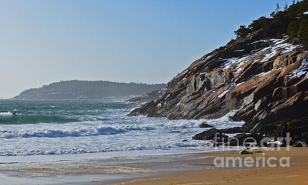 Maine Photograph - Maine Surfing Scene by Meandering Photography