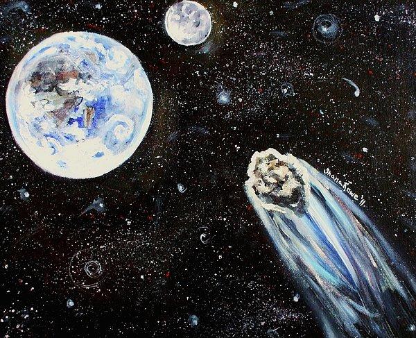 Space Painting - Make A Wish by Shana Rowe Jackson