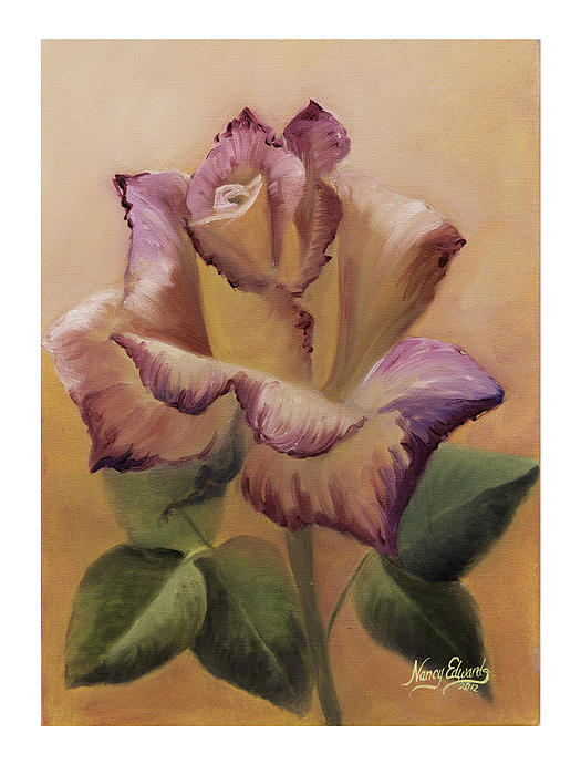 Flower Painting - Making A Statement by Nancy Edwards