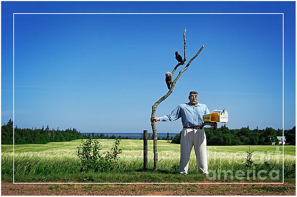 Mail Photograph - Male Box Man by Edward Fielding