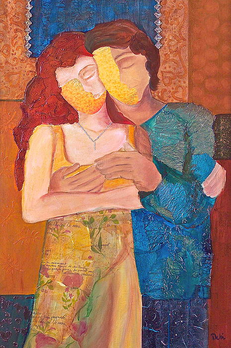 Man Painting - Man And Woman by Debi Starr