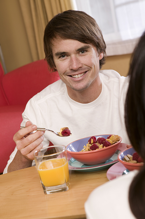Man Having Breakfast Photograph by Comstock Images